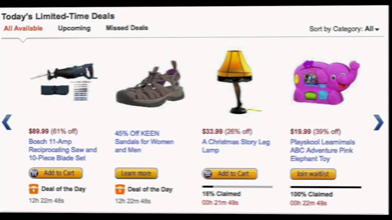 How to Get Amazon Lightning Deals - YouTube