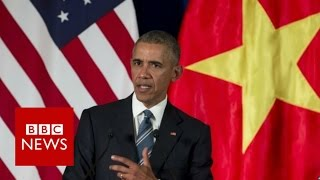 Obama in Vietnam: US arms embargo to end - BBC News