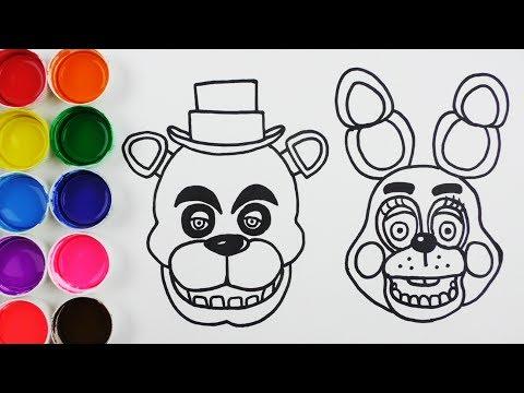 Cómo Dibujar y Colorear a Freddy - Dibujos Para Niños - Learn Colors ...