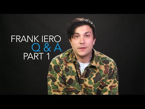 Frank Iero — The PV Fan Q&A Part 1 (Interview)