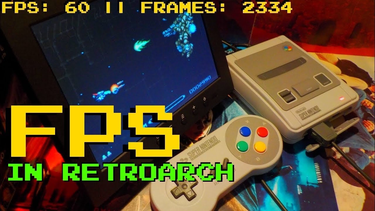 Display Framerate (fps) in RetroArch on Mini Classic SNES - Do this if it's  not working