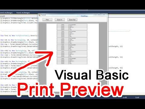 Cara Print Di Vb.net