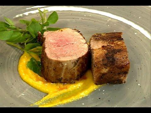 Solomillo de cerdo al horno en costra de mostaza antigua y - Solomillo de ternera al horno con mostaza ...