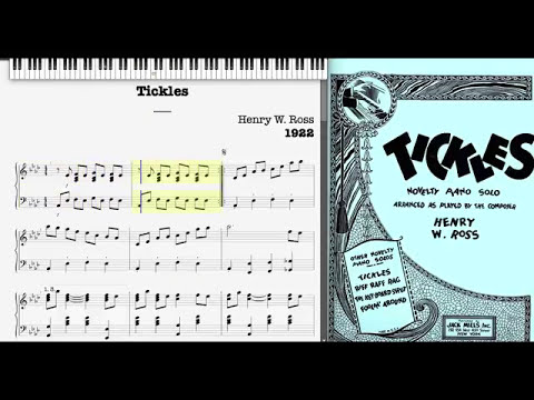Tickles by Henry Ross (1922, Novelty piano)