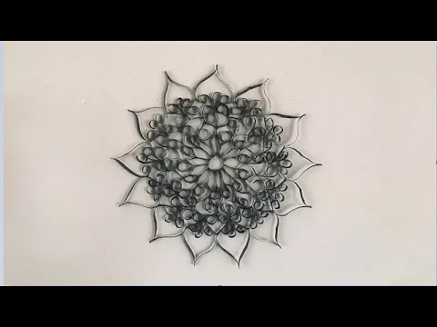 Unique DIY Wall Art Decor Made With Recycled Paper - YouTube