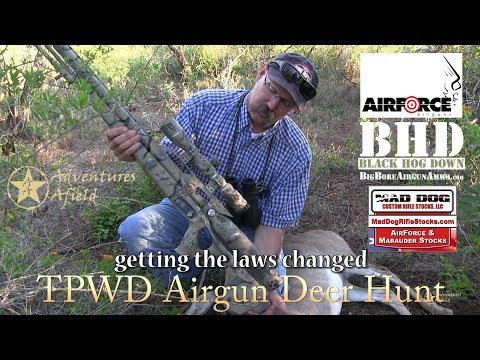 TPWD airgun research deer hunt