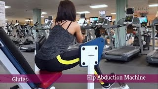 Hip Abduction Machine Exercise for Round Glutes