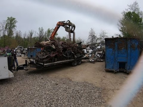 9,680 Lbs Of SCRAP CARS On ONE LOAD