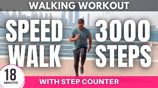 Speed Walking At Home  Fast Walk in 18 Minutes  Steps at Home