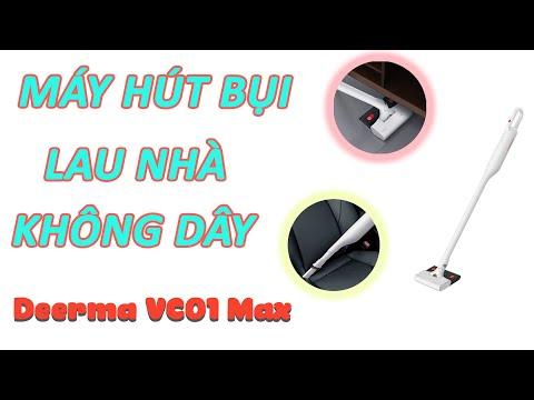 Máy hút bụi không dây Deerma VC01 Max - Tích Hợp Lau Nhà, Pin 2500mAh dùng 45' , Động Cơ K Chổi Than
