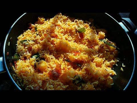 Potato fried rice recipe|aloo fried rice recipe|in telugu ...