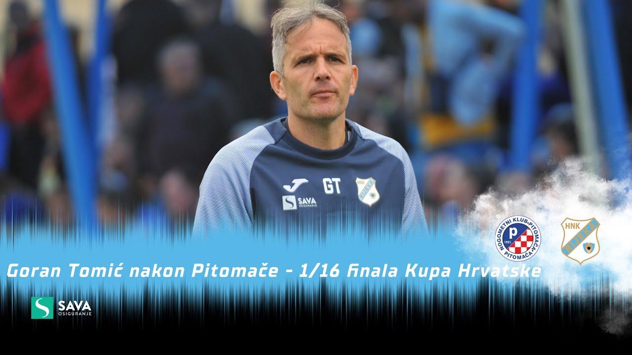 Goran Tomić nakon NK Pitomača - 1/16 finala Kupa Hrvatske (2021./2022.)