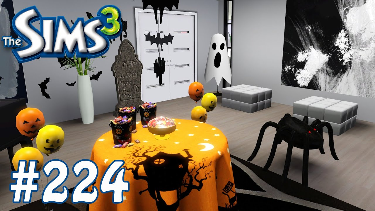 the sims 3 halloween decorating part 224 youtube