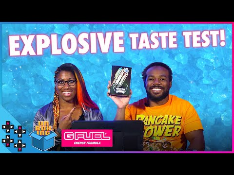 EMBER MOON & AUSTIN CREED try G-FUEL ENERGY CRYSTALS!!! - UpUpDownDown Unboxing