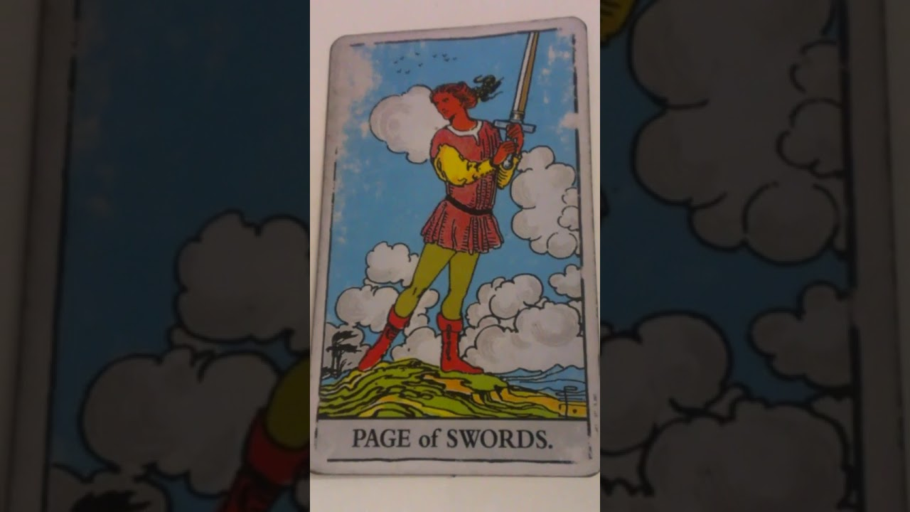 The Page of Swords as Feelings in a Love Reading