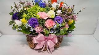 인사동 갤러리나우에 전시회 축하 꽃바구니로 꽃배달한 상…