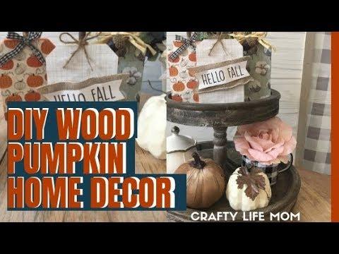 DIY Wood Pumpkin Decor from the Dollar Tree