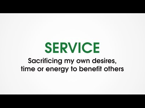 (P1) Service - Character Trades. Teach kids to serve others rather than be selfish.