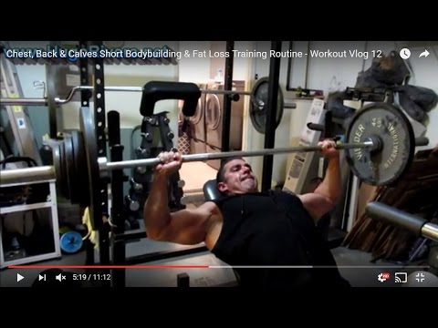 Chest, Back & Calves Short Bodybuilding & Fat Loss Training Routine – Workout Vlog 12