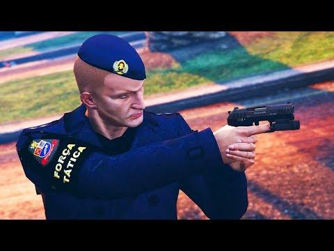 GTA V VIDA POLICIAL - FORÇA TÁTICA NA RUA
