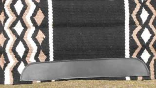 Black NZ Wool Thick Padded Western Saddle Pad