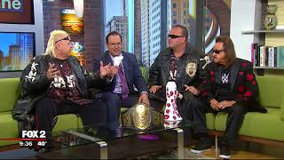 The Legends of Wrestling put Ryan over the table, wreck FOX 2's studios