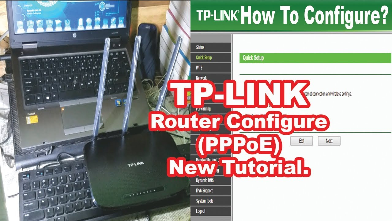 How To Configure TP-Link Wireless Router To Work with a DSL Modem (PPPoE)  Router Configure Bangla