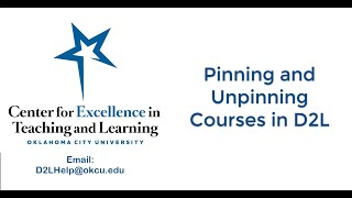Pin and Unpin Courses