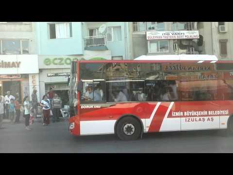 Izmir - Driving with the public bus through the western city of Turkey 02 (HD)