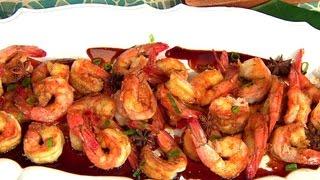 Chef Alex Garcia's Rum Glazed Shrimp On The Dish