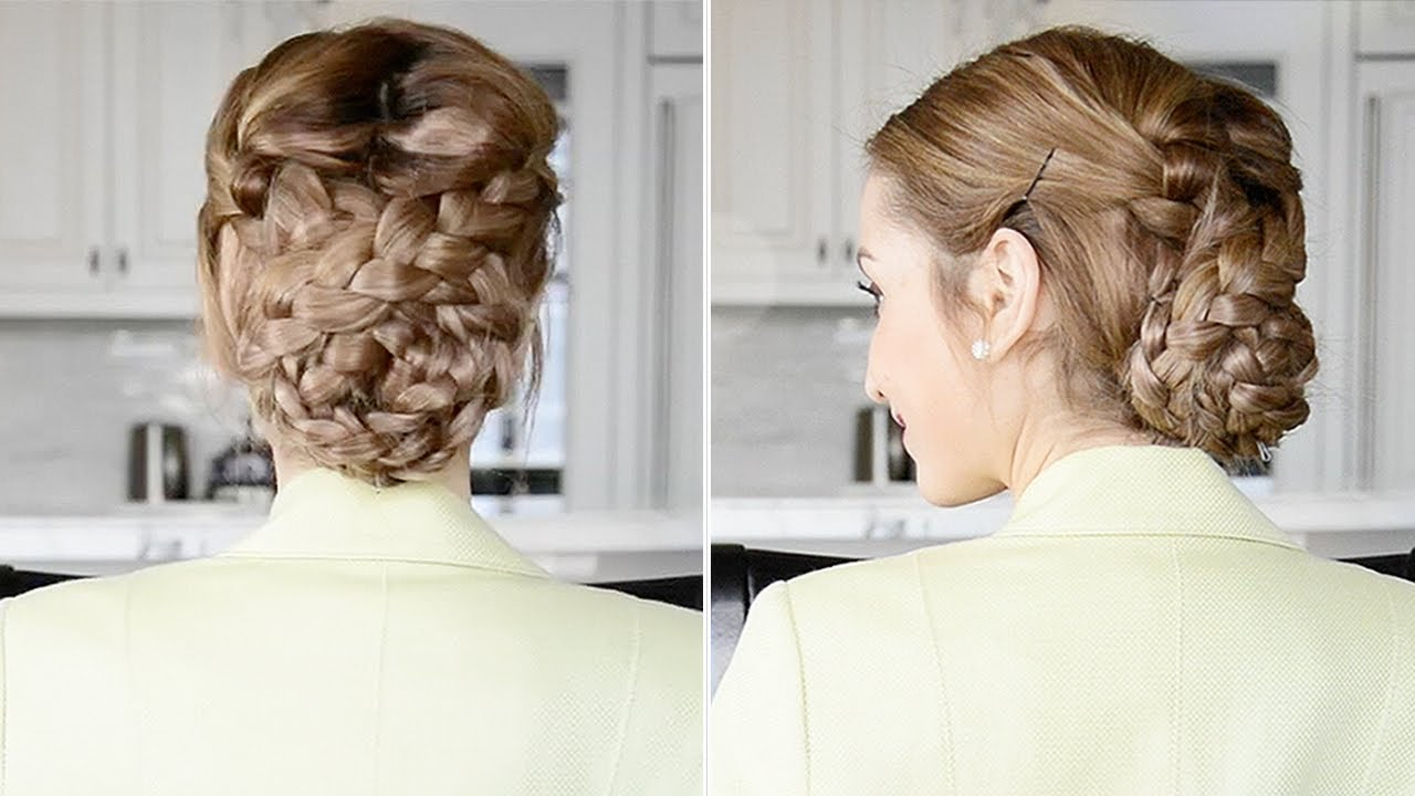 Fancy Braided Updo Easy Holiday Hairstyle Fancy Hair