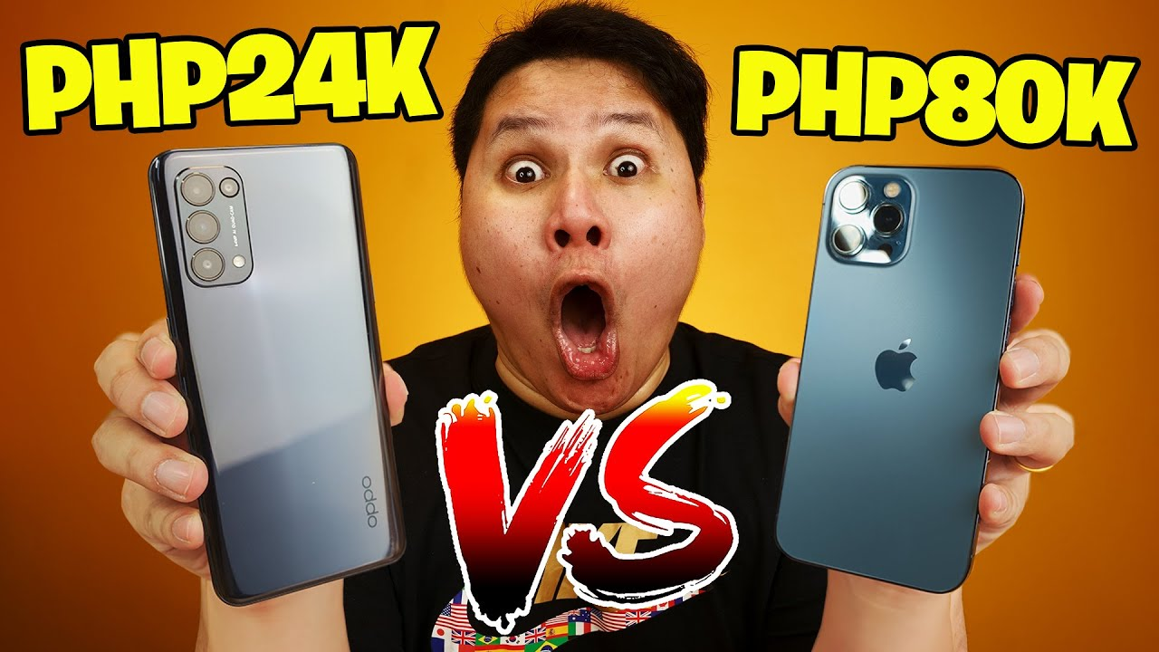 OPPO Reno 5 5G vs iPhone 12 Pro Max - Php24k phone vs Php80k Phone