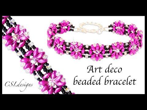 How to Art Deco beaded bracelet