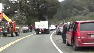 """Need For Speed"" filming, Mendocino County, Ca. HWY 253, 4/7/13,CHP crash"