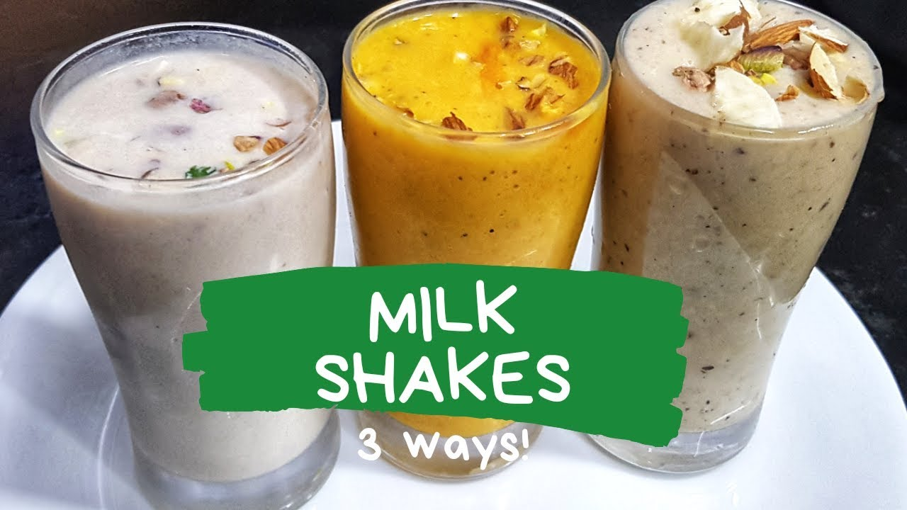 3 Easy and Quick Milkshake Recipes - Summer Recipe