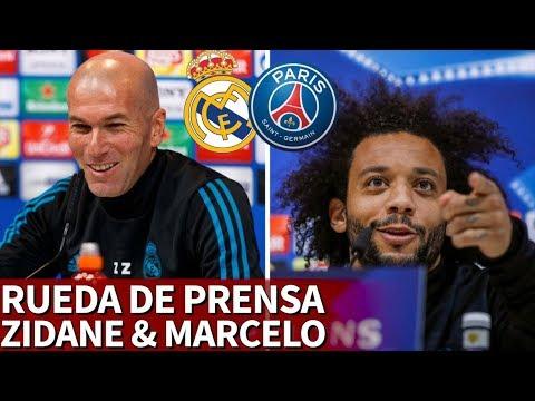 Real Madrid - PSG | Rueda de prensa previa de Zidane y Marcelo | Diario AS