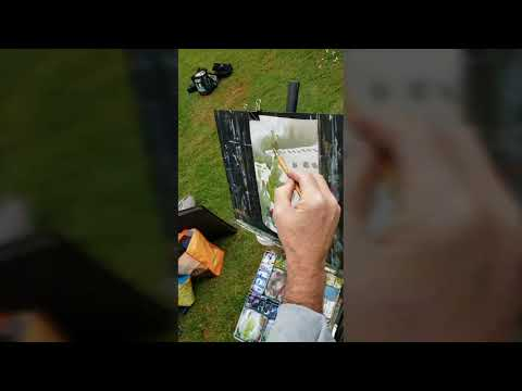 Plain Air Watercolor Workshop At The Rose Garden Of Huntington Library With Robert Sherrill