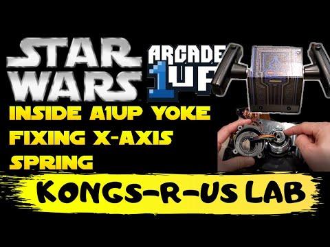 KongsRUs Lab - Inside Star Wars Arcade1Up Yoke & Fixing X-Axis Spring from Kongs-R-Us