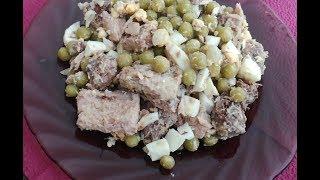 Салат из тунца № 3 + КБЖУ. ПП Рецепт. ХУДЕЮ.