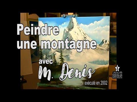 Cesar denis peinture montagnes paysage style bob ross for Paysage peinture