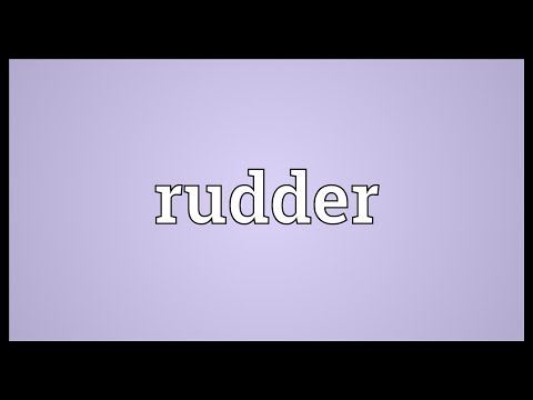 Rudder Meaning