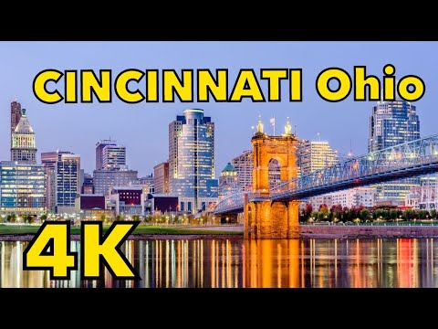 Driving Downtown Cincinnati 4K OHIO USA 🇺🇸
