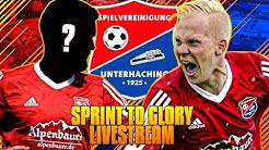 VON DER 3.LIGA IN DIE CHAMPIONS LEAGUE LIVE!! 🔥 I LIVESTREAM XXL SPRINT TO GLORY UNTERHACHING