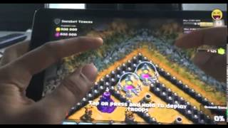 Clash of clans 300 witches and 300 dragons raid