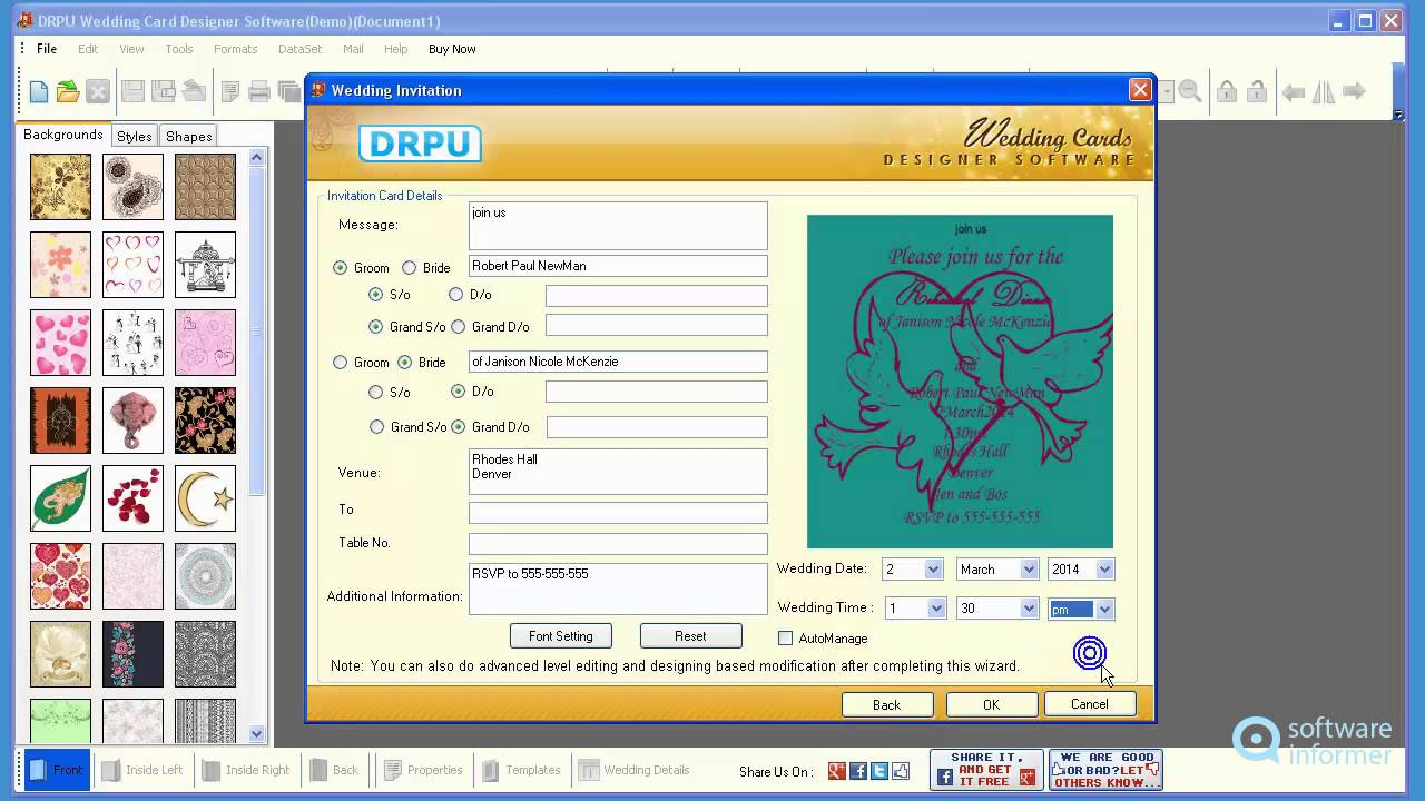 Working with DRPU Wedding Cards Designer Software - YouTube