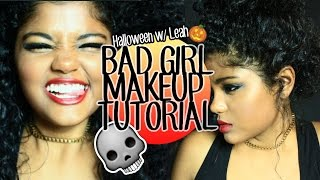 ✖ BAD GIRL MAKEUP TUTORIAL ✖ + Tattoos ☠ | Leah Allyannah