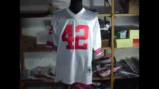 San Francisco 49ers 42 Ronnie Lott white Throwback By www.intojerseys.top