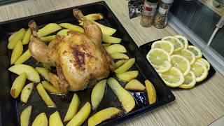 Приготовление Курицы с картошкой в духовке