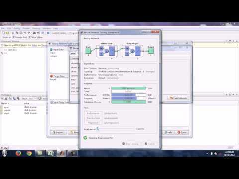 Artificial neural network using matlab
