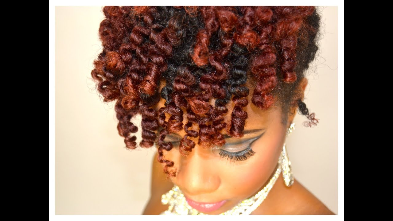 Homecoming Hair Style Bantu Knot Out Updo Hair Tutorial Youtube